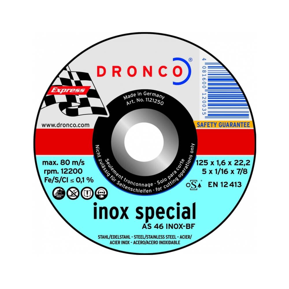 Круг отрезной Dronco AS46 INOX T42 Ø230 х 1,9 мм