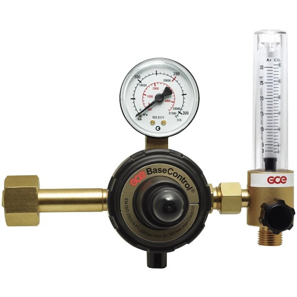 """Регулятор универсальный Base Control SEAR/CO2 - 200/- бар, вх. G3/4""""; вых. G3/8""""; ротам. 0-32л/мин GCE (Чехия)"""